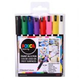 Posca 0.7 mm Extra Fine Markers 8 Piece Set